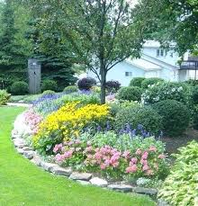 rock flower bed edging stone ideas simple and cheap garden for