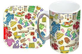 selina jayne baby limited edition designer mug and coaster gift set