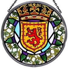 window roundel in scottish and thistle design to buy
