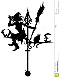 halloween u0027s weathervane with silhouettes of a witch and a cat