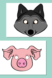 three little pigs storytelling props pig mask storytelling and