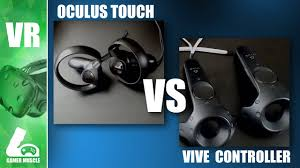 oculus touch vs htc vive controllers comparison and review youtube