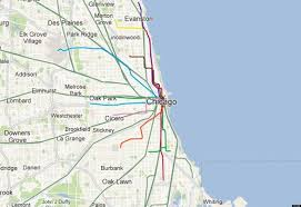 Cta Map Red Line Chicago Map Maps Chicago United States Of America
