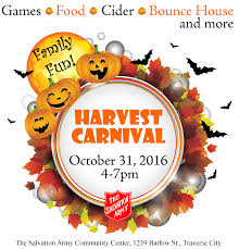 thanksgiving army traverse city harvest carnival october 31 2016