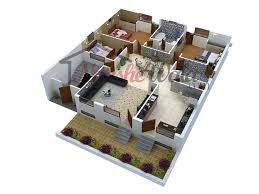 D Floor Plan L 3D Plans House Design Customized Home 3d