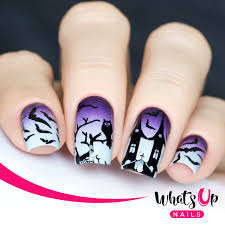 whats up nails a012 happy halloween mini nail stamping plate