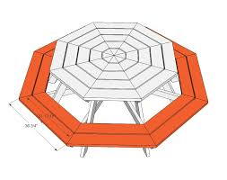 Plans For Picnic Tables by Ana White Octagon Picnic Table Diy Projects