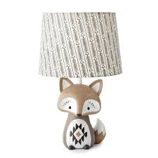 levtex baby bailey charcoal arrow print lamp shade and taupe fox