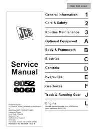 jcb 8060 midi excavator service repair manual sn1236000 onwards