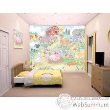 fresque chambre enfant fresque murale animaux de la ferme room studio dans stickers enfant