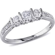 2 carat white gold engagement ring 1 2 carat t w three engagement ring in 10kt white
