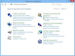 horloge bureau windows 8 lancer le panneau de configuration windows 8