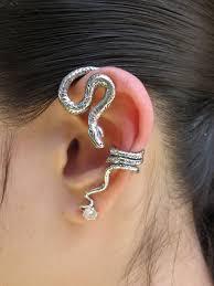 ear wrap ear wrap silver python snake ear wrap snake earring snake