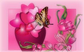 flowers animals pretty butterfly pink colors designs pre flowers