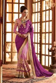 wedding designer violet pink wedding designer wear half sadi