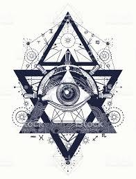 all seeing eye tattoo art vector freemason and spiritual symbols