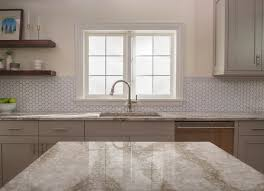 white kitchen cabinets with hexagon backsplash design trends hexagons in the kitchen fireclay tile