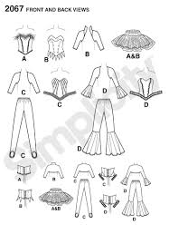simplicity halloween costume patterns amazon com simplicity sewing pattern 2067 misses u0027 costumes hh