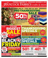 hancock fabrics black friday 2017 ads deals and sales