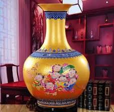 jingdezhen porcelain pottery ceramic vase enamel color ornamental