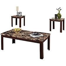 light colored coffee table sets amazon com ashley furniture signature design maysville faux