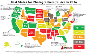 Wedding Photographer Cost 20 States In The U S For Photographers To Live In 2016