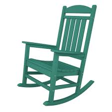 Green Plastic Outdoor Chairs Green Rocking Chairs Patio Chairs The Home Depot
