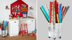 christmas wrapping paper holder gift wrapping organizer and storage ideas