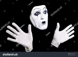 mime face hands white gloves theatrical stock photo 82029334