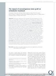 guided bone regeneration the impact of nonautogenous bone graft on orthodontic treatment