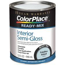 colorplace catalina island ready mix semi gloss interior 1 quart