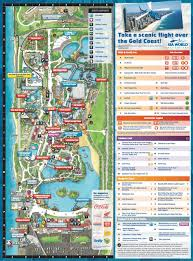 Map Of Orlando Theme Parks by Maps Of Gold Coast Theme Parks Dreamworld Sea World Movieworld