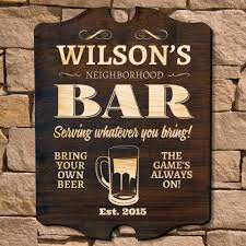 personalized bar signs 127 styles homewetbar neighborhood bar personalized sign signature series