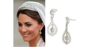 wedding earrings drop kate middleton wedding earrings sapphire jewelry royal wedding