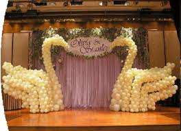 balloons decoration stage decarations and anniversary party balloons decoration