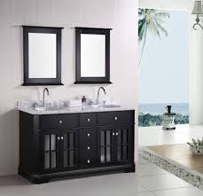 Black Bathroom Vanity With White Marble Top by Bathroom Bathroom Furniture Interior Double Sink Vanity Set With