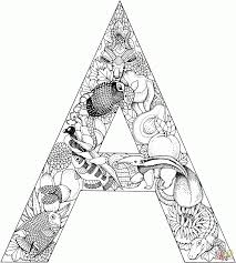 letter a for coloring page education letter a coloring pages