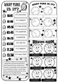 156 free esl what time worksheets