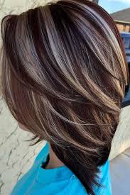 brunette hairstyle with lots of hilights for over 50 30 highlighted hair for brunettes highlighted hair brunettes