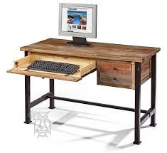 wood and metal writing desk ifd solid pine rustic writing desk metal legs multi colored