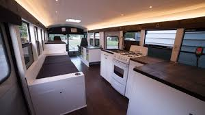 Mobile House Solar Powered Bus Home Makes A Modern Mobile Home Curbed