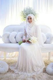 wedding dress syari 14 inspirasi gaun pengantin syar i berwarna putih til cantik