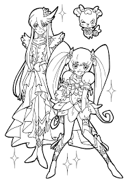 nice from pretty cure coloring pages for kids printable free
