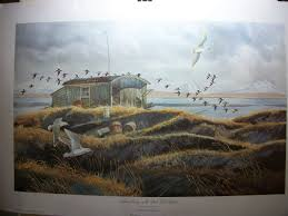 outdoor duck hunting print by larry toschik salmon camp on the ilnik tidal basin