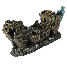 aquarium ornament fish tank shipwreck lost cruise ship wreck