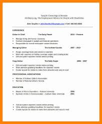 Chronological Resume Builder Free Chronological Resume Template Best 25 Free Resume Samples