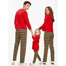 wholesale striped matching family pajama kid 8t