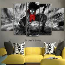 aliexpress com buy 5piece canvas art catoon poster one piece aliexpress com buy 5piece canvas art catoon poster one piece painting home decor wall art poster for living room prints modular art picture poster from
