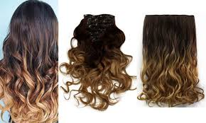 ombre clip in hair extensions todo 24inch curly ombre style 7 16 clip hair extensions in