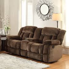 homelegance laurelton doble glider reclining loveseat w center